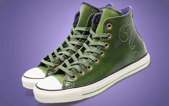 "afdc4ed885aa All Star do Charada  DC Comics x Converse Chuck Taylor All Star Hi ""The  Riddler"""