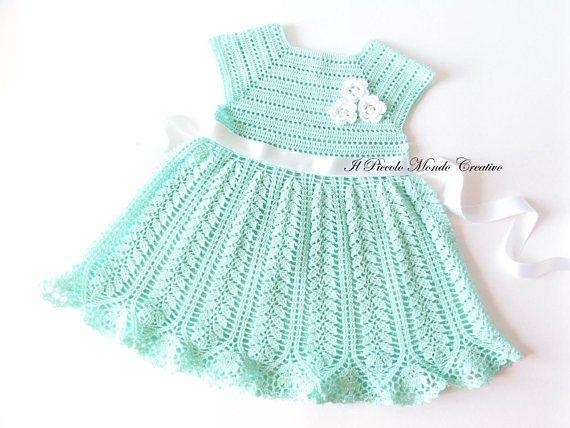 Baby Dress Crochet Baby Dress Christening Gown Baby Dress Baby