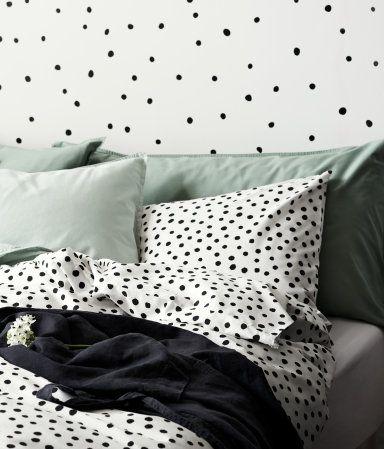 White Black Conscious King Queen Duvet Cover Set In Woven Tencel