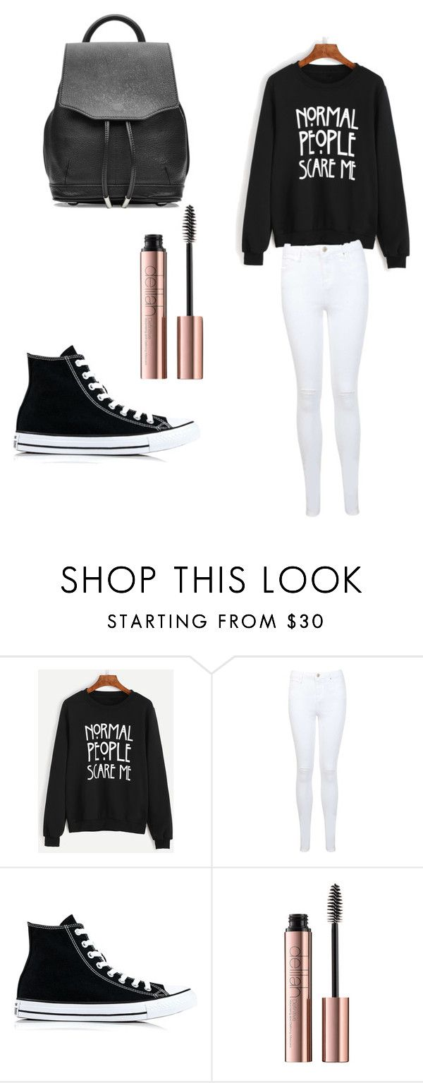 """💦❤️😍"" by starsdefender ❤ liked on Polyvore featuring Miss Selfridge, Converse and rag & bone"