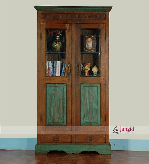 Indian Antique Teak Wood Almirah Design Visit Jangidartandcrafts