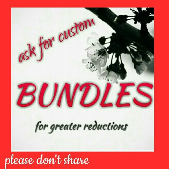 Custom bundles- ask questions here If you are interested in a bundle, please let me know. Better bundle discounts are available. Let me create one for you at the price we negotiate together. bundles Other