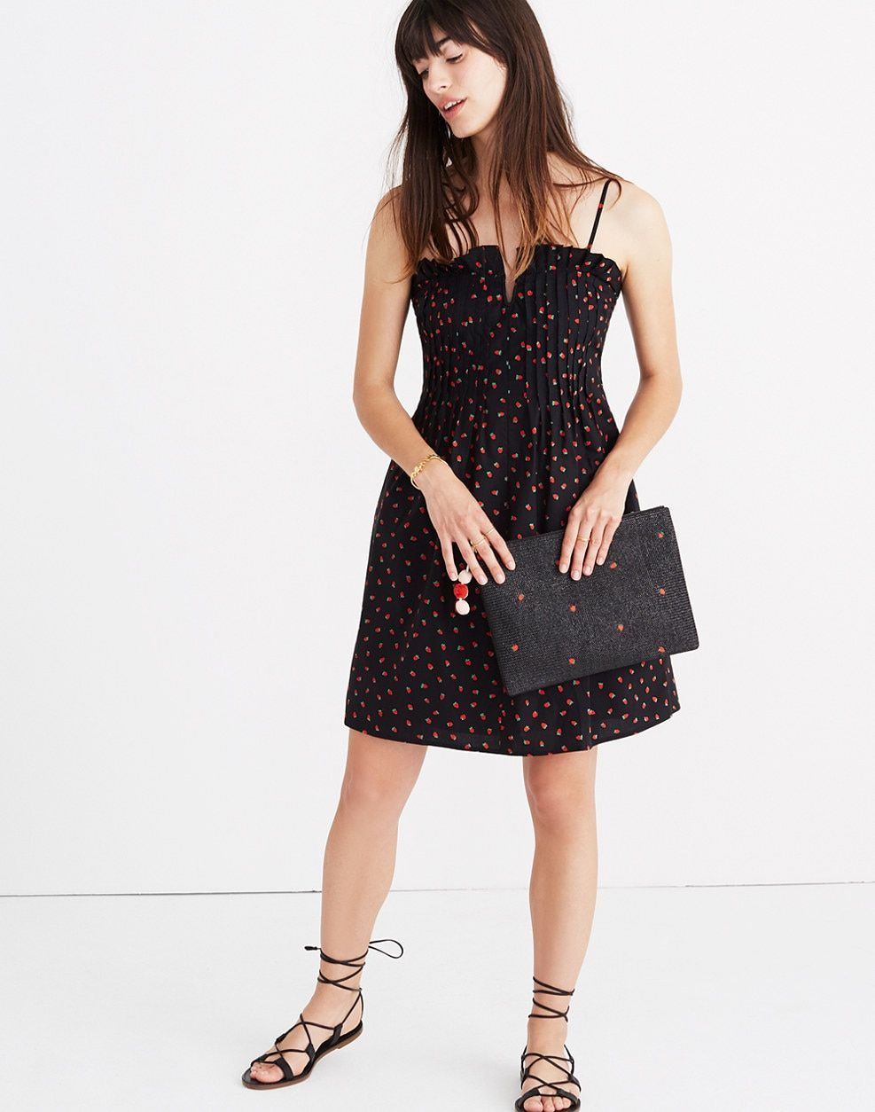 ae80c8d6fa Pintuck Cami Dress in Fresh Strawberries   casual dresses