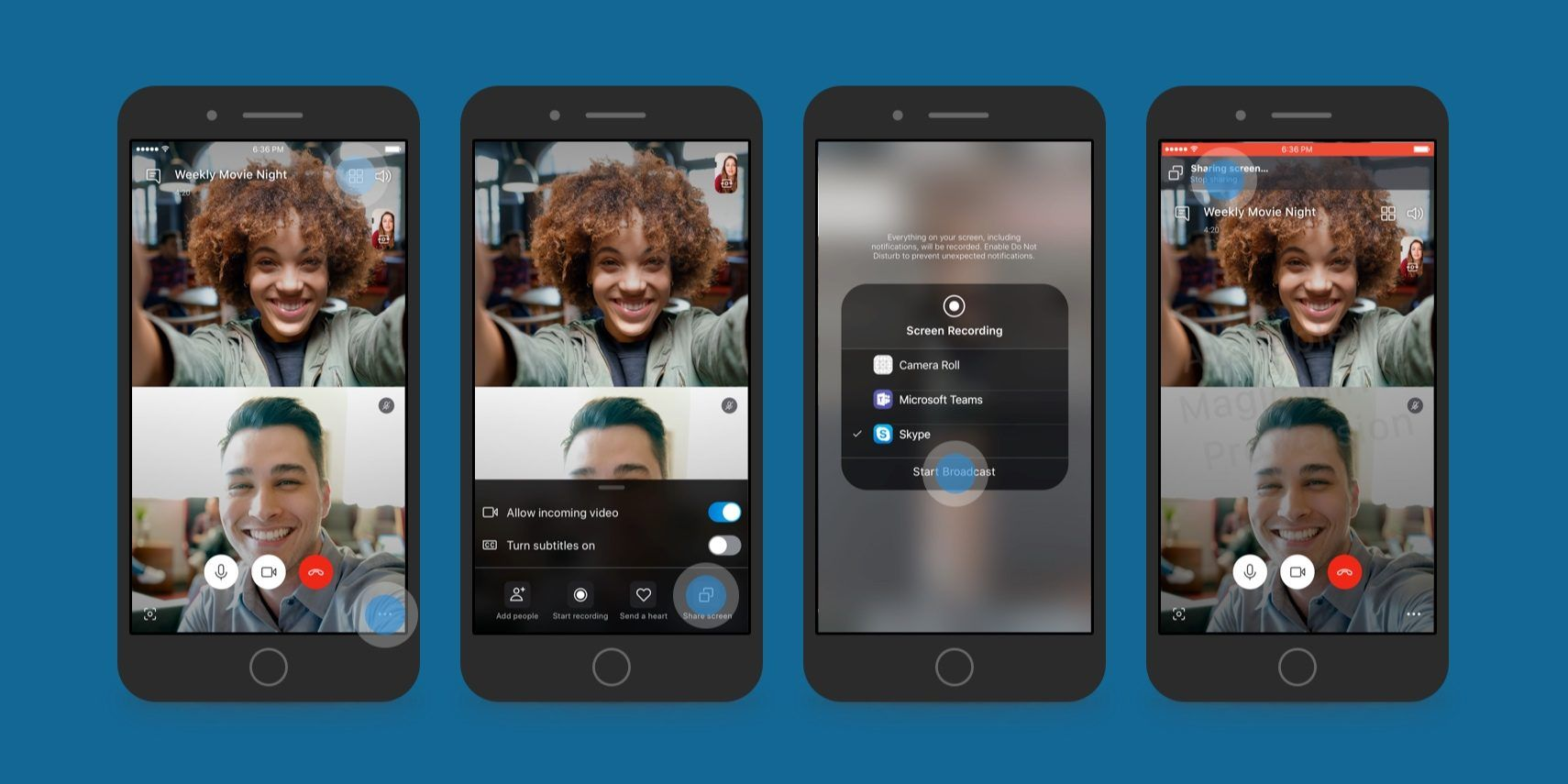 Skype for iOS beta adds ability to share your iPhone and