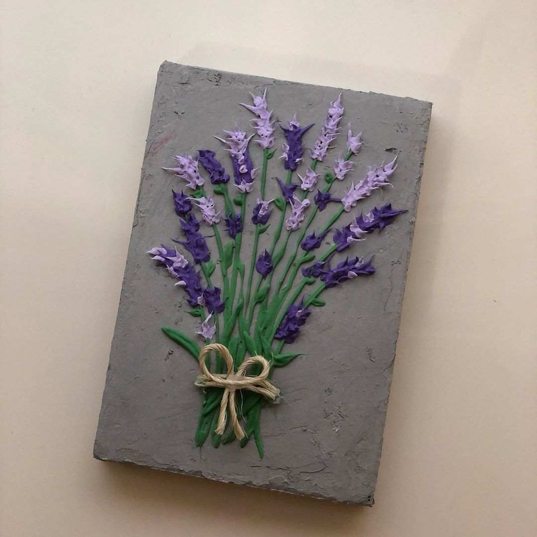 Vahide S Handmade On Instagram Wall Frame Lavender For Price And Inquiries Dm Vahidehandmade Eiduae Sculptu In 2020 Frames On Wall Sculpture Painting Handmade