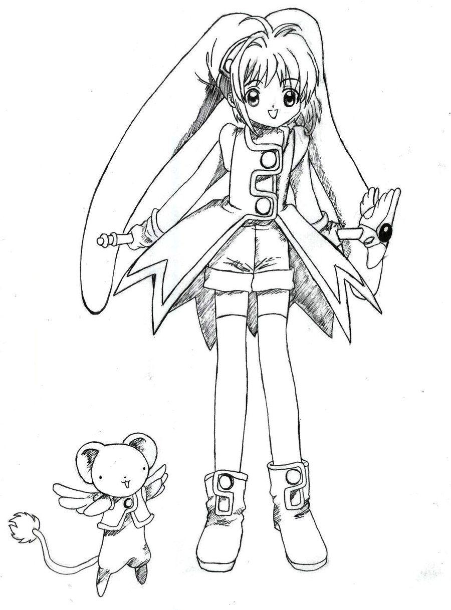 Free Cardcaptor Sakura Coloring Pages