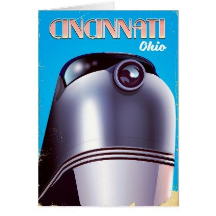 Cincinnati ohio locomotive travel poster card holiday card diy cincinnati ohio locomotive travel poster card holiday card diy personalize design template cyo cards negle Image collections