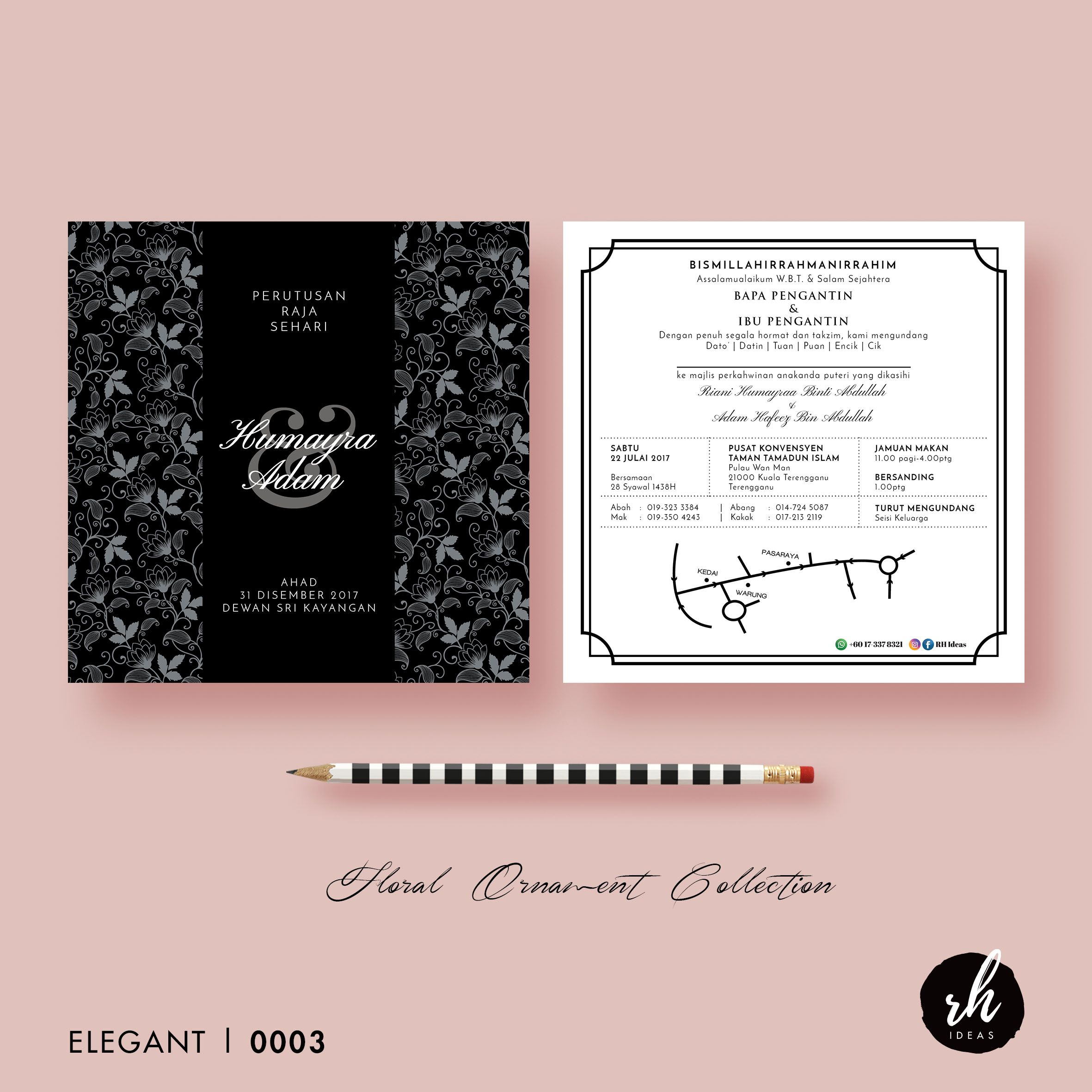 Design Kad Kahwin Elegant