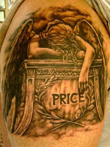 Angel Crying On Tombstone Tattoo An Angel Mourning Over A Grave I
