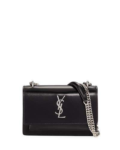 8947229f50f6 V3QWD Saint Laurent Sunset Small Monogram Calfskin Wallet on Chain ...