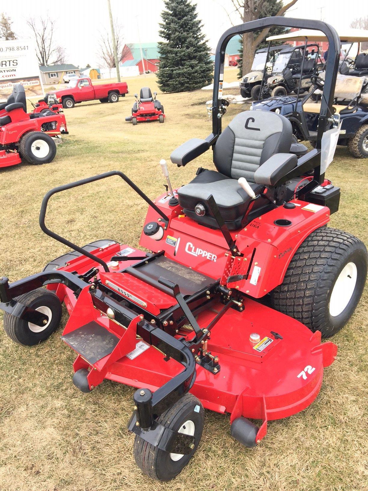 Boss Xl Country Clipper Zero Turn Lawn Mower Deck Flips Forward For Easy Maintenance Joy Stick For Control Of Move Zero Turn Lawn Mowers Lawn Mower Mower
