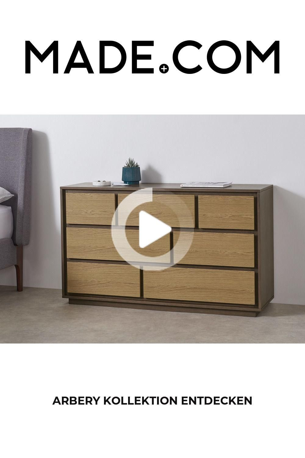 Commode Made Bois Clair In 2020 Modern Eiche Holz