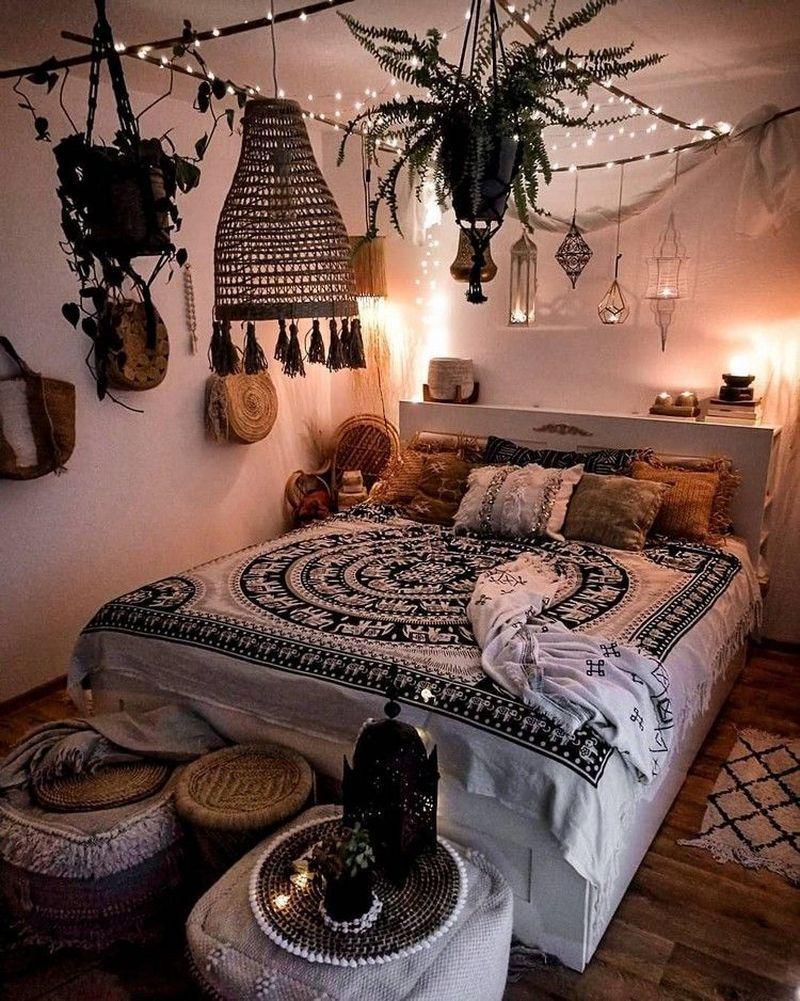 48 Amazing Bohemian Bedroom Decor Ideas That Are Comfortable Bohemian Bedroom Design Boho Bedroom Decor Boho Style Bedroom