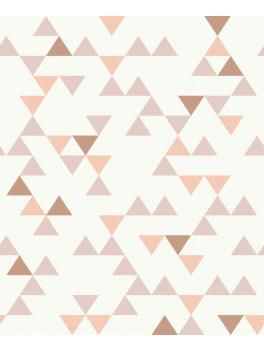 papier peint motif triangle vieux rose scandinave grandeco pisode 21 pinterest. Black Bedroom Furniture Sets. Home Design Ideas