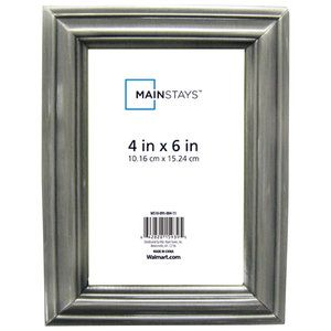 Mainstays Satin Metal Picture Frame Walmart Metal Picture Frames Frame Picture Frames