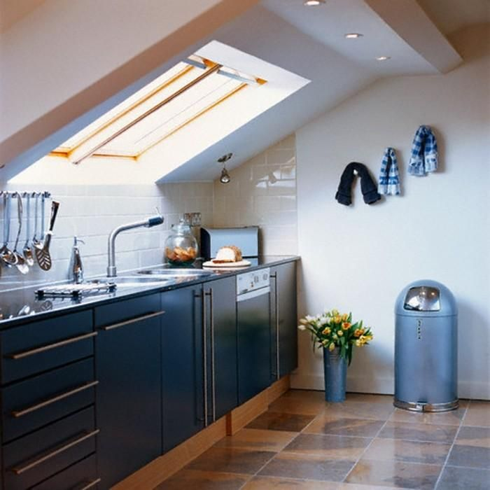 25 Captivating Ideas For Kitchens With Skylights: 17 Captivating Attic Kitchen Designs In 2019