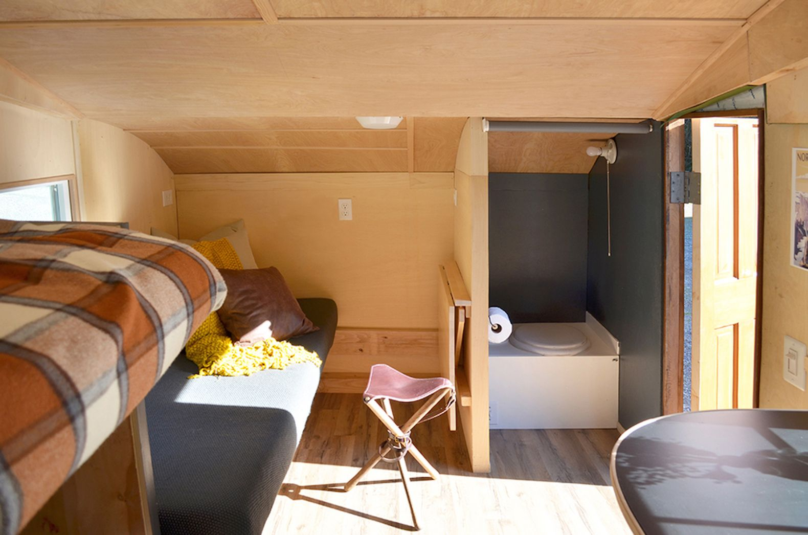 Charming wood teardrop trailer is perfect for off-grid eco ...