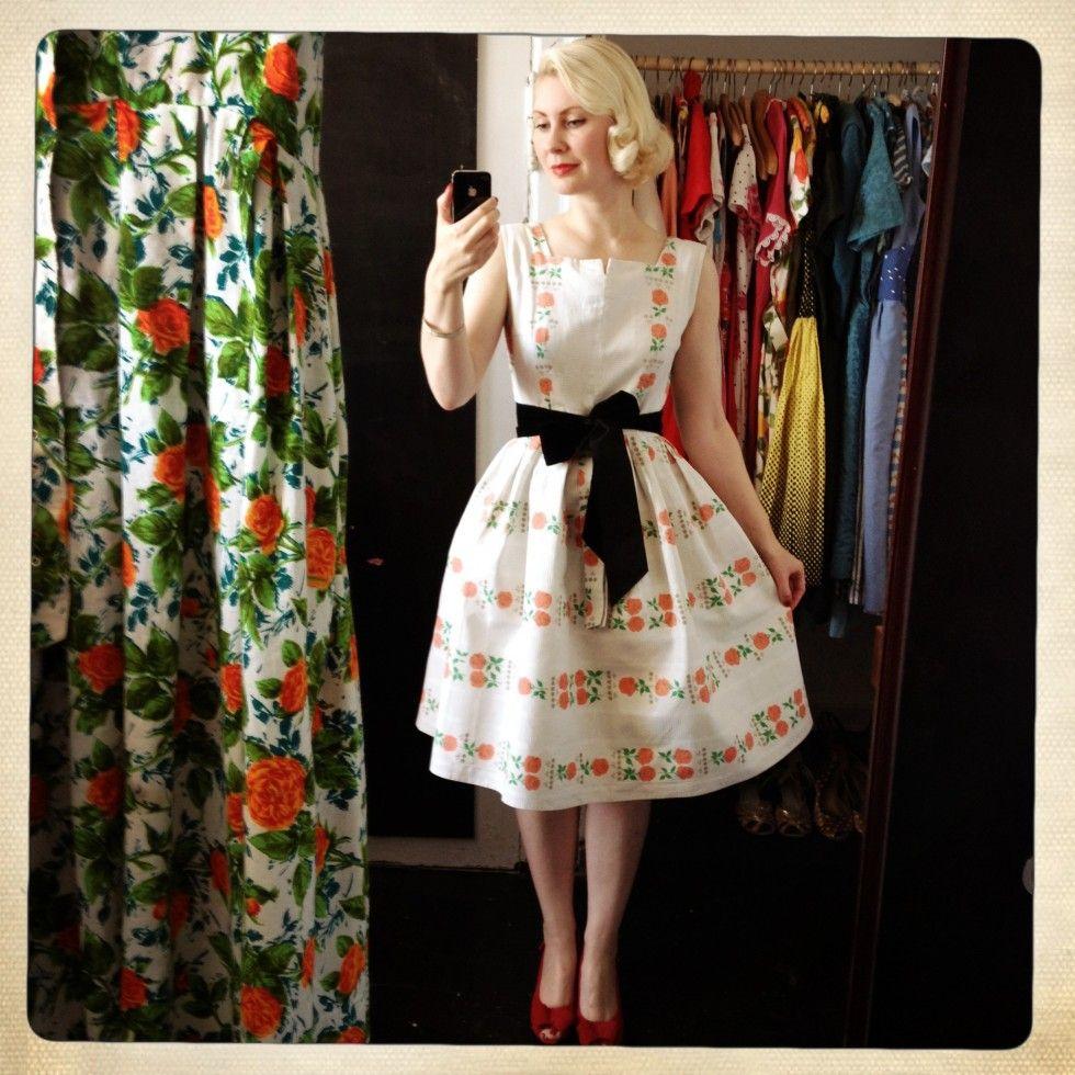 1950s cotton dress www.stormsmagasin.dk