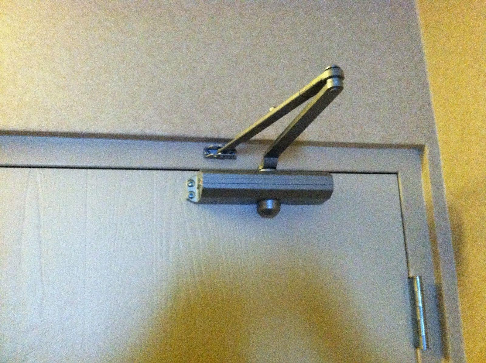 Choosing door closer and curtain brackets from interior
