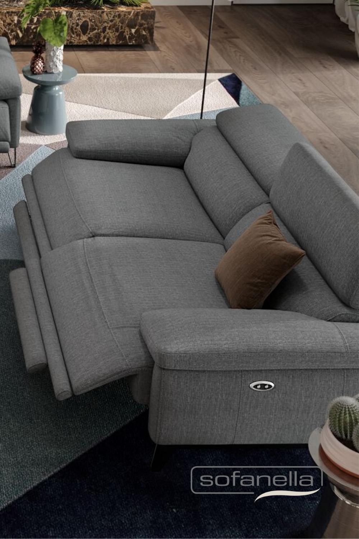 3 Sitzer Couch Grauer Stoff Moderne Italienische Designersofas Aus Stoff Sofa Design Couch Grau Sofa