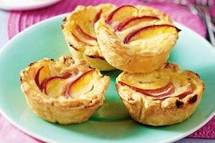 Portugiesische Puddingtortchen Mit Pfirsich Rezept Delicious