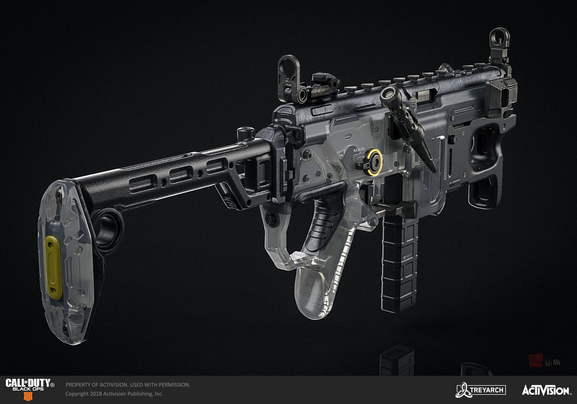Artstation Call Of Duty Black Ops 4 Mx9 Smg Will Huang Call