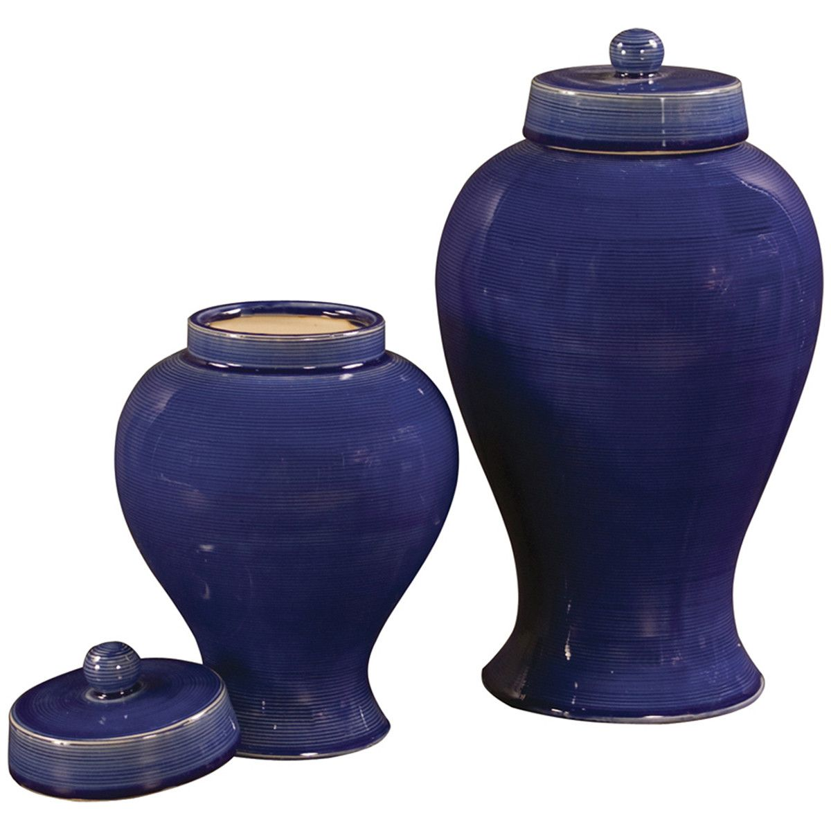 Ceramic Jars With Lids Howard Elliott Cobalt Blue Glaze Ceramic Jars With Lids
