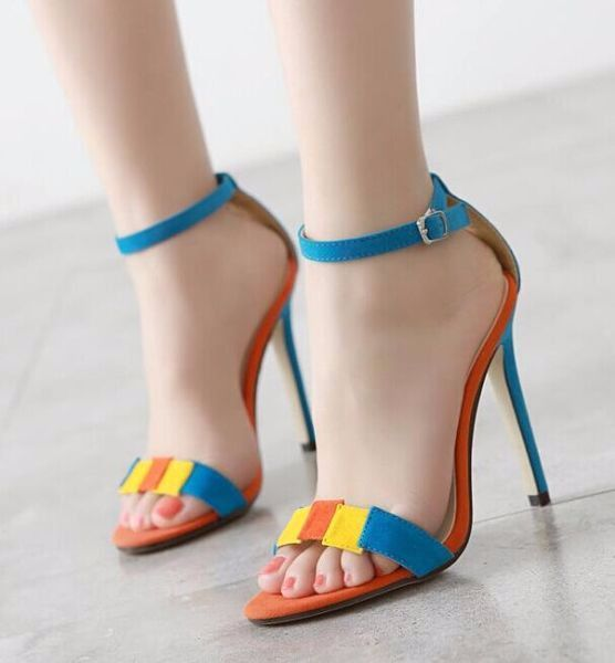 0987399cd8b Cute Ankle Strap Sandal Style Multicolor Heels in 2019 | Sandals ...