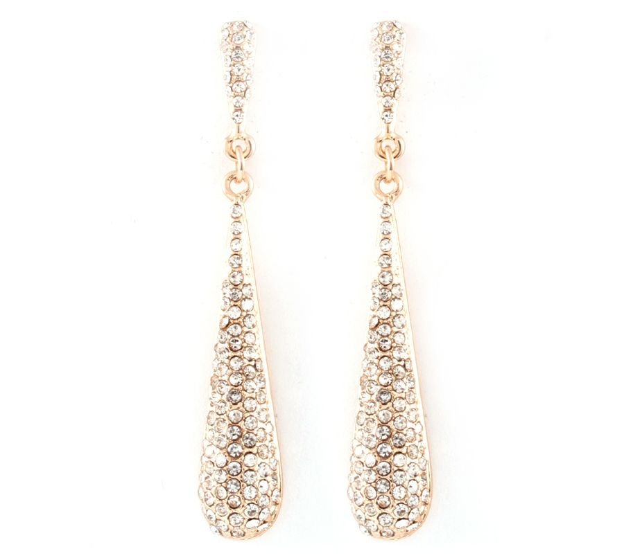 Crystal Anna Earrings in Gold
