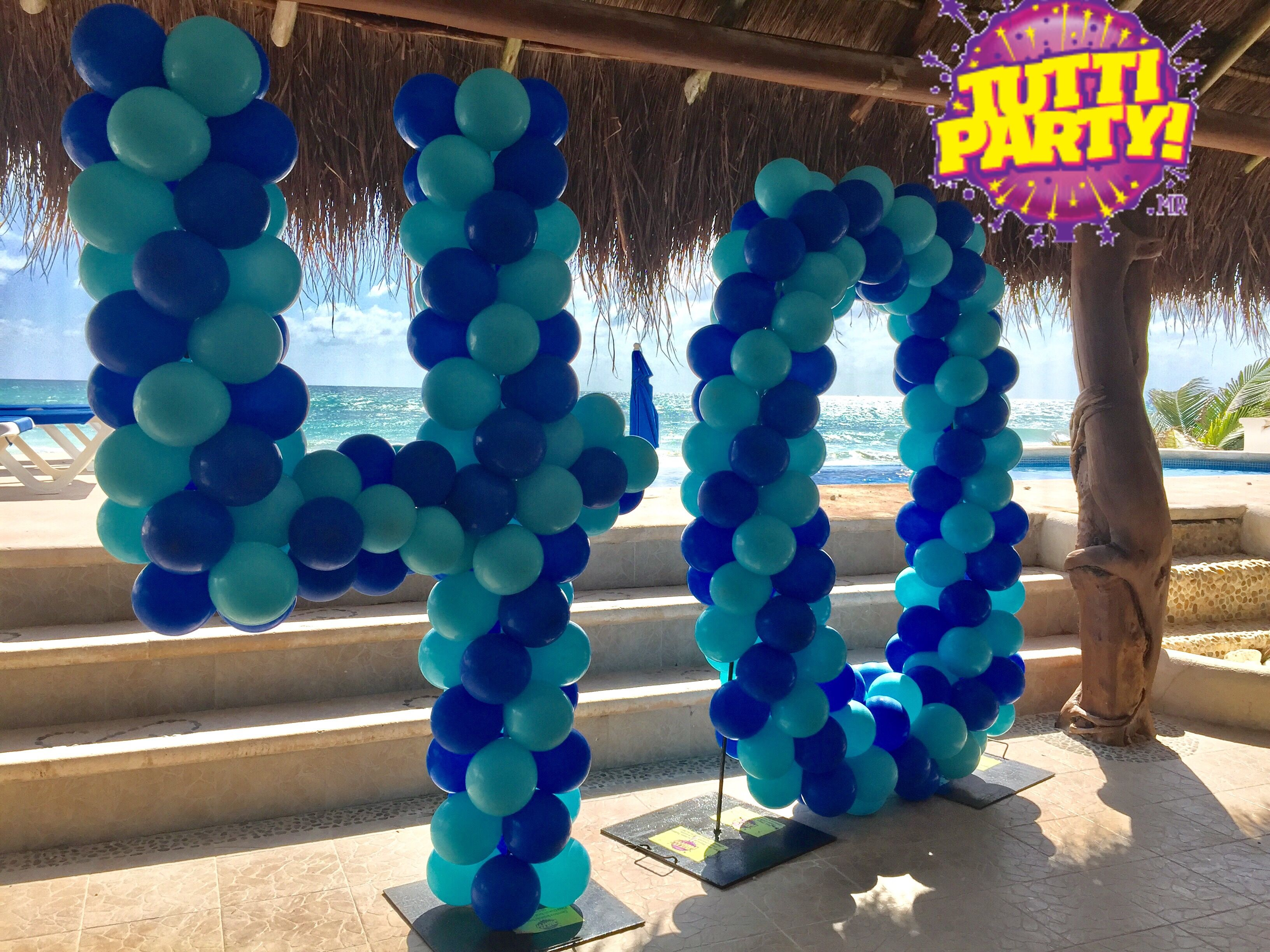 cheerful themed retirement beach decor decorations party