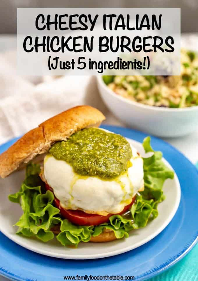 Cheesy Italian chicken burgers - For the Grill Cheesy Italian chicken burgers - For the Grill ,