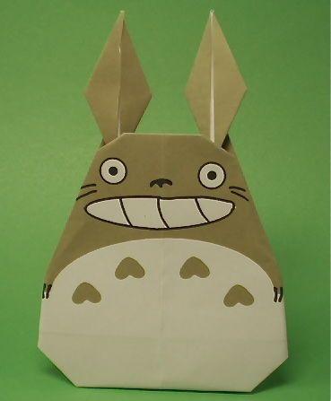 折り紙 ジブリの折り方 作り方 となりのトトロ ポニョ 猫バス 折り紙 キャラクター トトロ 折り紙 折り紙 可愛い