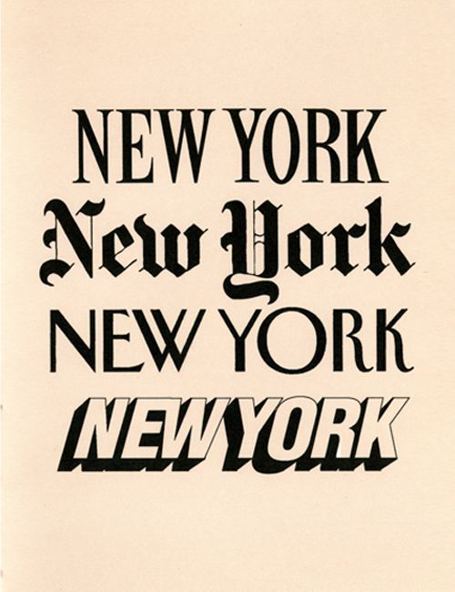 Fonts of New York