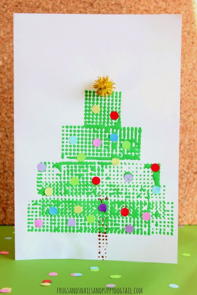 Christmas tree christmas card