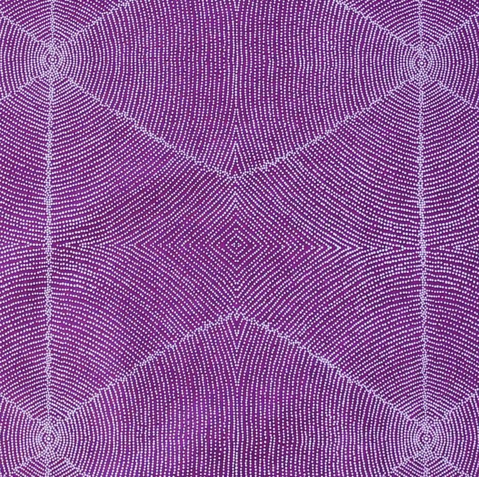 WILD PLUM SEEDS RED AUSTRALIAN ABORIGINAL QUILTING FABRIC by FQ or METRE