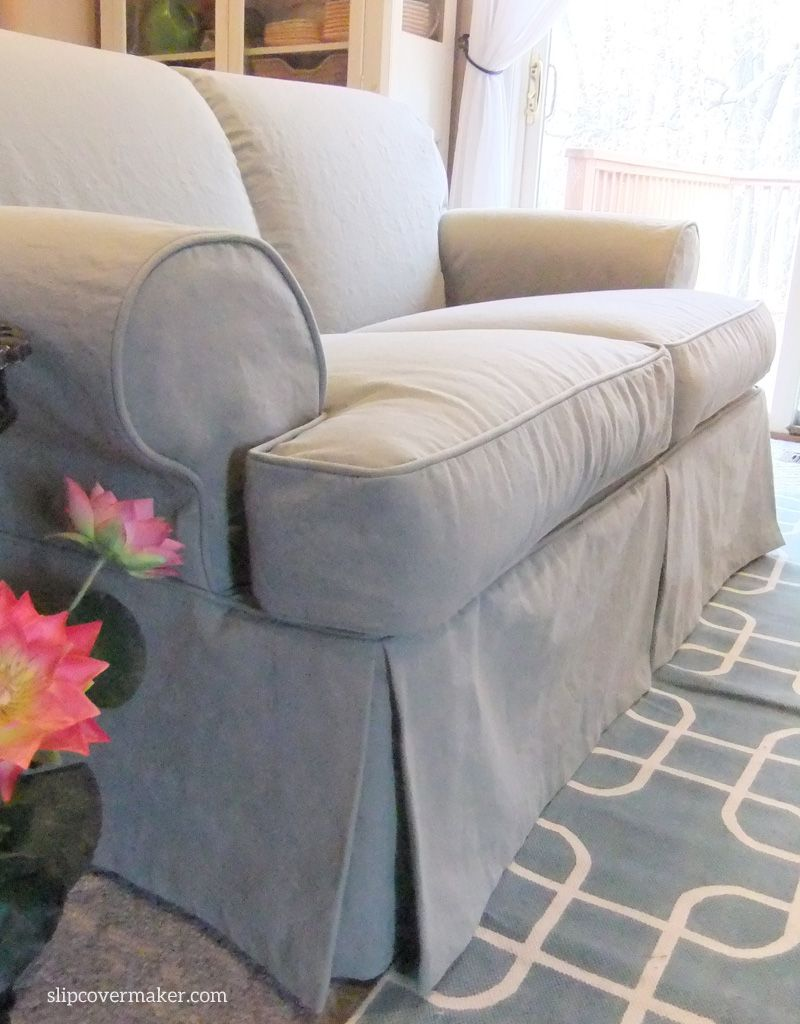 Grey Sofa Slipcover This Cotton Poly Canvas Is Slipcover Perfect It S Weighty Supple