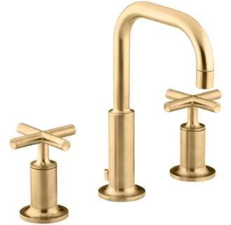 Kohler K 14406 3 With Images Widespread Bathroom Faucet Gold