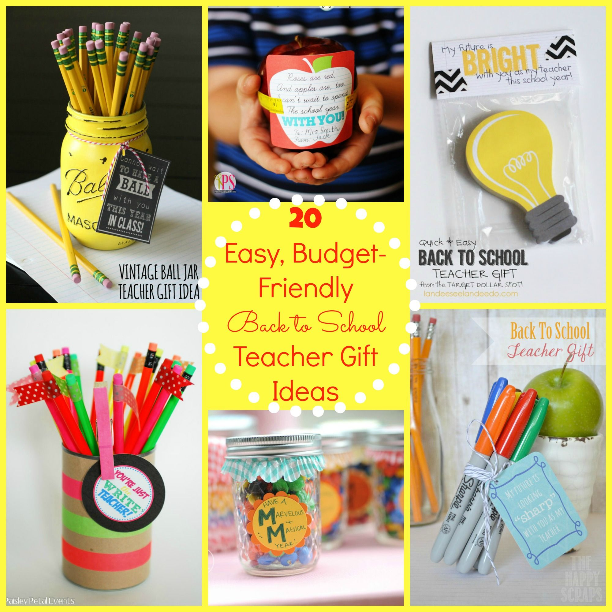 Back to school gift ideas for the teacher free for Easy gift ideas