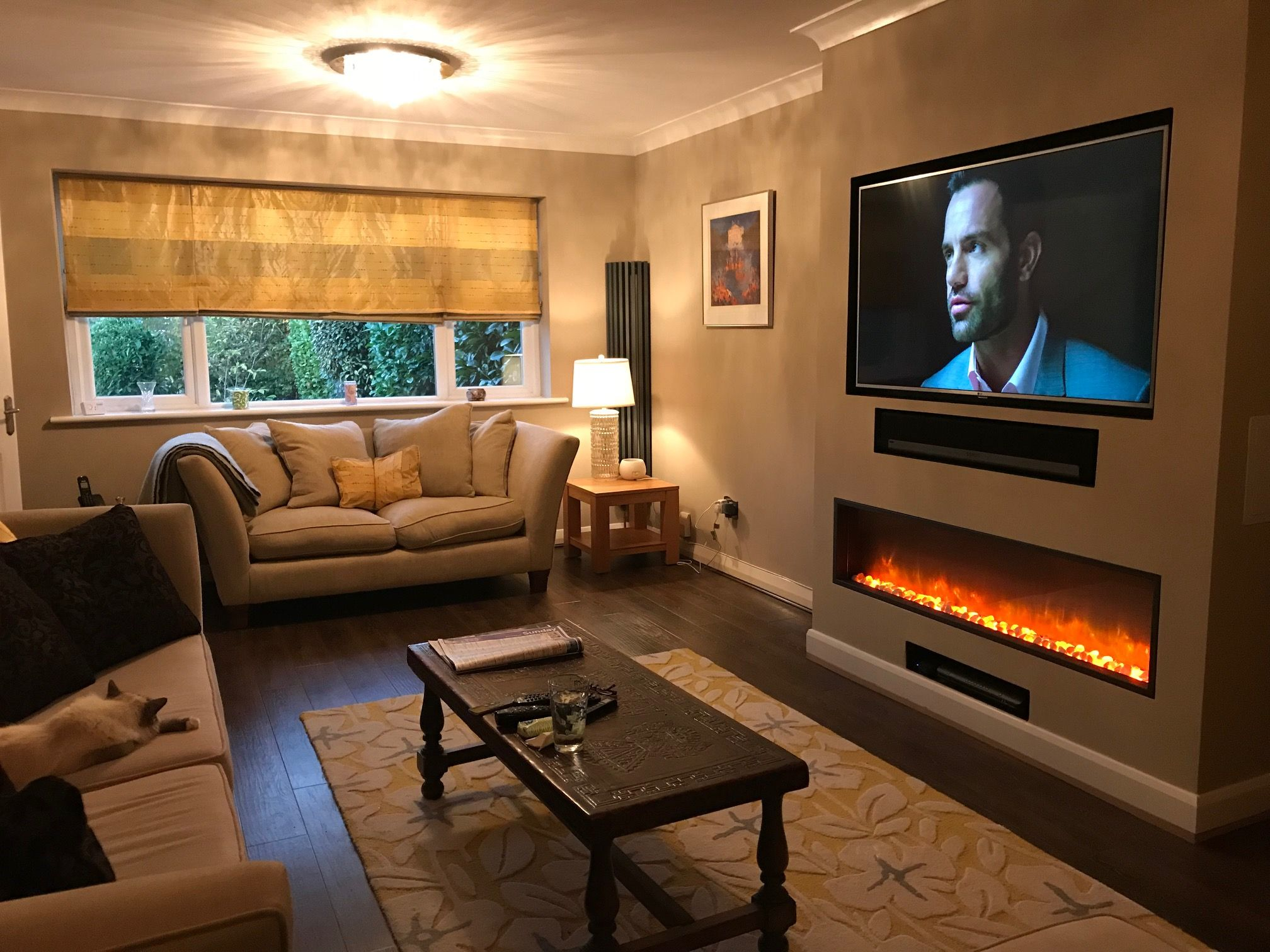 Pin By Mik On Tv Above Fireplace Living Room Electric Fires