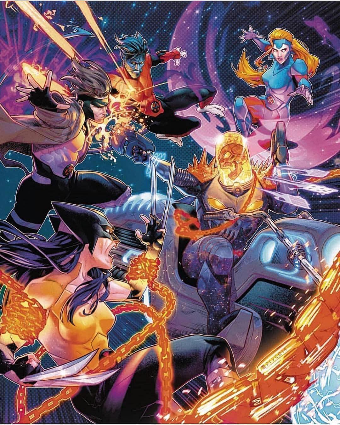 X Men Vs Cosmic Ghost Rider Pryce14 Art Marvelcomics Comics Marvel Comicbooks Avengers Avengersinfini Ghost Rider Marvel Marvel Comics Art Ghost Rider