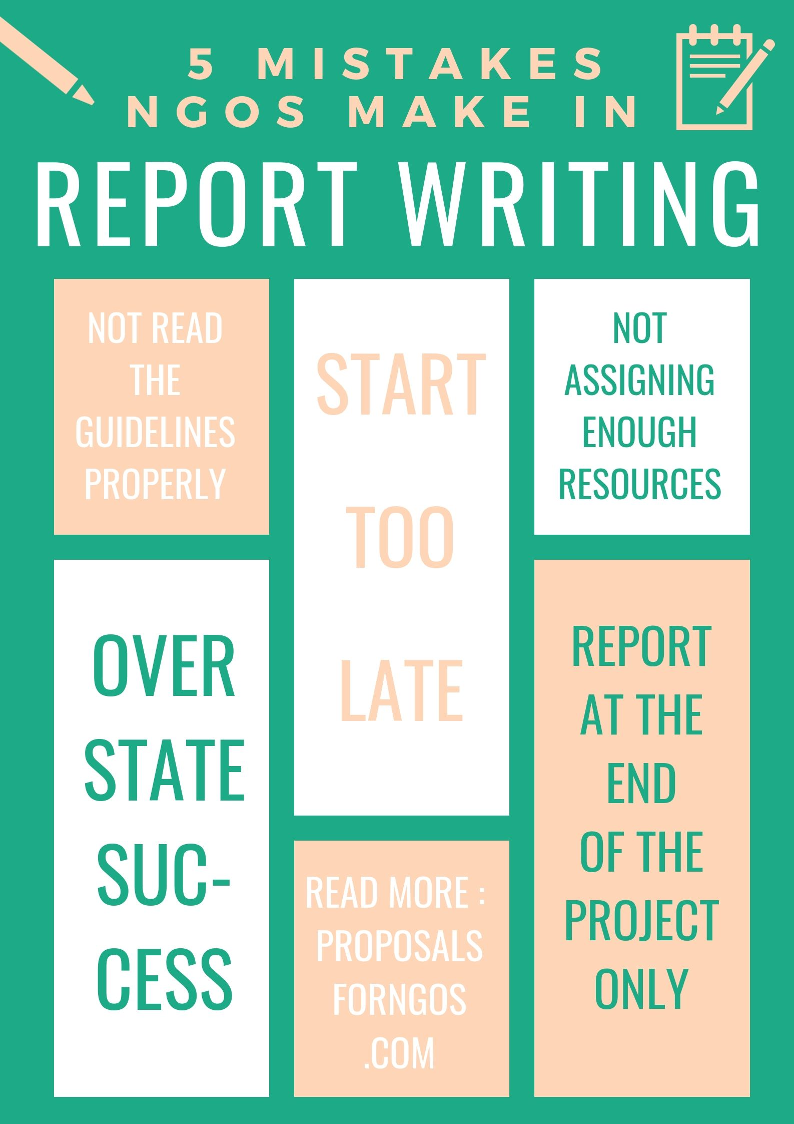 5 Mistakes Ngos Make When Writing A Report Proposal For Ngos Proposal Writing Unique Fundraisers Proposal