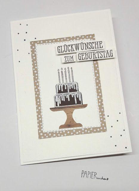Papierinchen: Geburtstagskarte #stampinup!cards