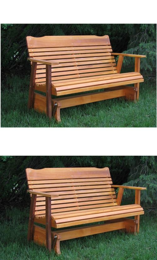 Benches 79678 Patio Gliders Front Porch Furniture Cedar Wood Bench