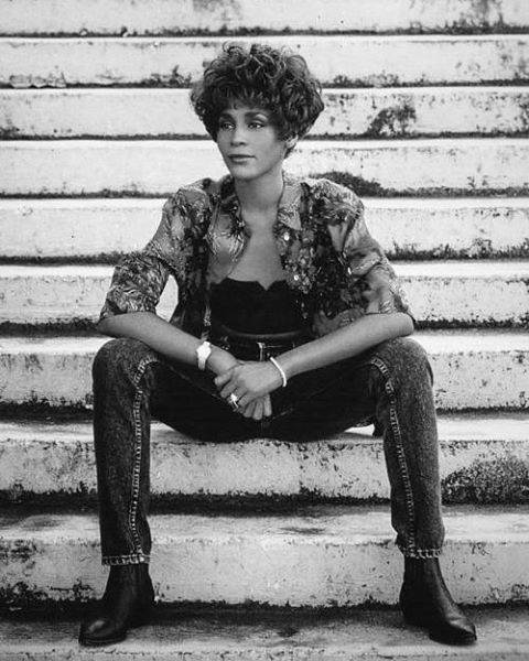 """""""I like being a woman, even in a man's world. After all, men can't wear dresses, but we can wear the pants."""" - Whitney Houston  #InternationalWomensDay #WhitneyHouston#WHM"""