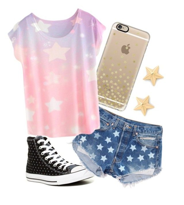 """""""Stars ☆☆☆"""" by rileyadewitt ❤ liked on Polyvore featuring Converse, Casetify and Rebecca Minkoff"""