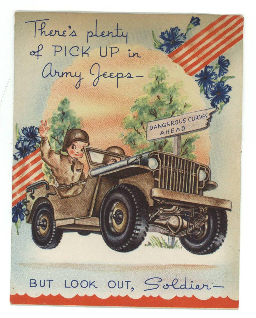 Army Jeep greeting card Patriotic christmas, Military
