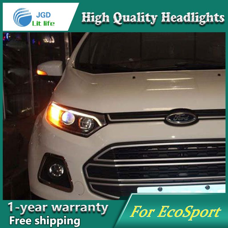High Quality Car Styling Head Lamp Case For Ford Ecosport 2013
