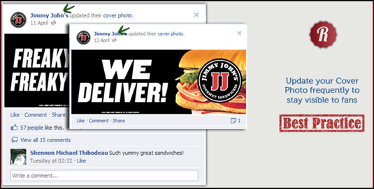 #DailyTip Update your cover photo frequently to get extra visibility in fans' news feeds