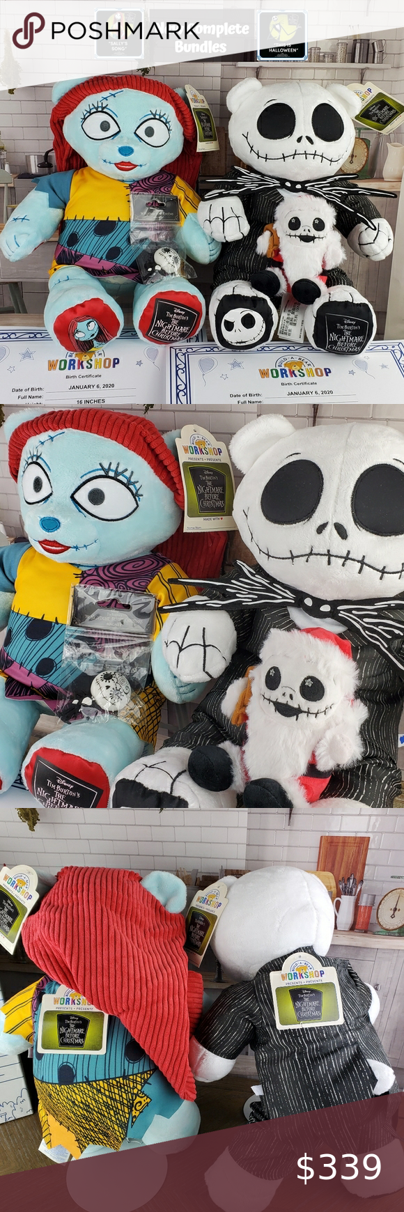 NWT BuildABear TNBC Jack & Sally Song Outfits in 2020