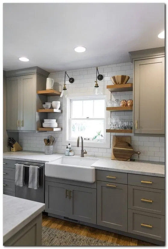 15 Clever Small Kitchen Remodel Open Shelves Ideas In 2020 With